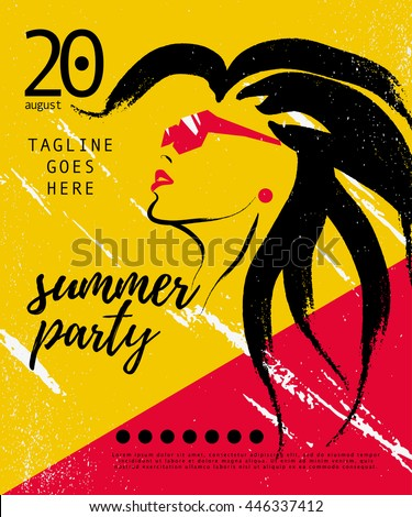 vector artistic summer party