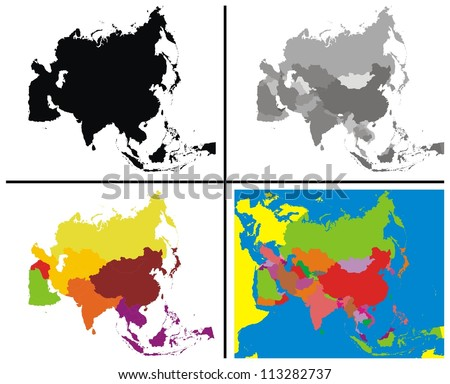 Vector - Asia Map Collection