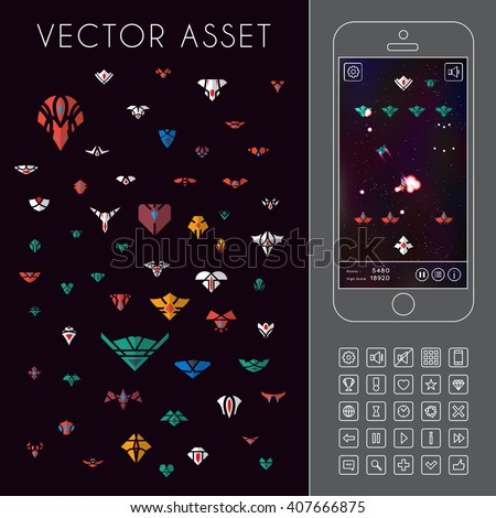 vector asset for space game