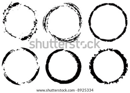 Vector assorted grunge circles