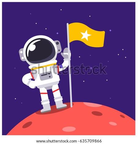 vector astronaut standing on