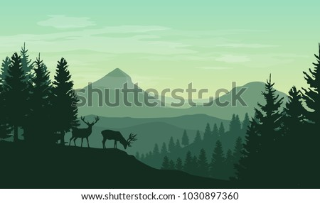 vector atmospheric landscape