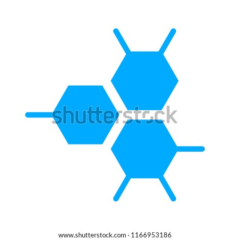 vector Atom symbol, molecule illustration - chemistry molecular element