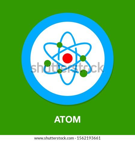 vector Atom symbol, molecule illustration - chemistry molecular element