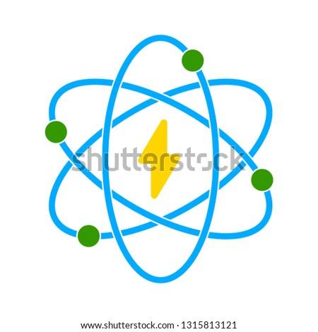 vector atomic icon