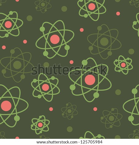 vector atoms seamless pattern