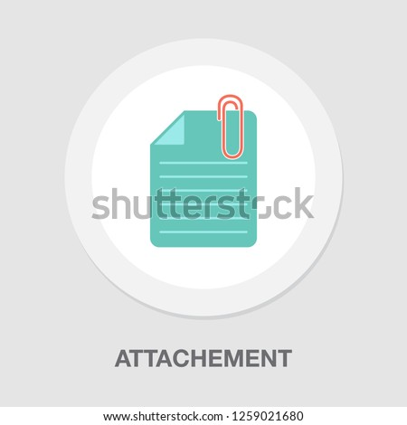 vector attachement icon. document symbol with paper clip. attach