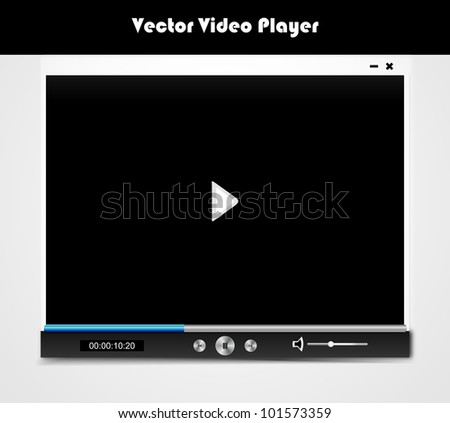 Vector audio video player for web