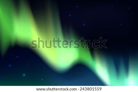 vector aurora borealis vector