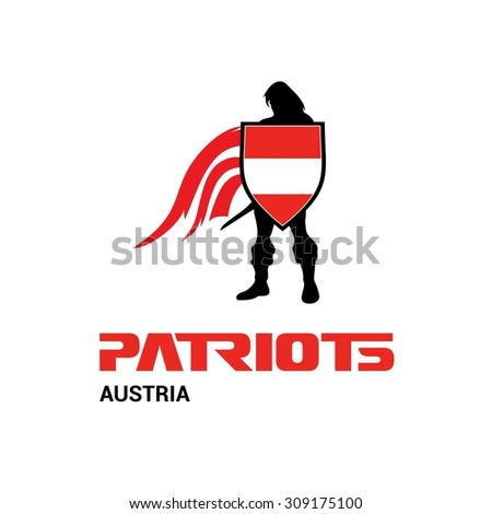 vector austria flag patriots