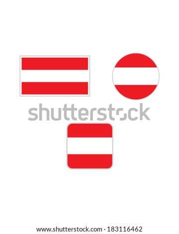 vector austrian flag set