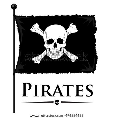 vector authentic pirate flag