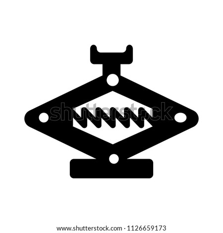 vector auto car lifter icon, Element of car repair illustration - jack service tool isolated