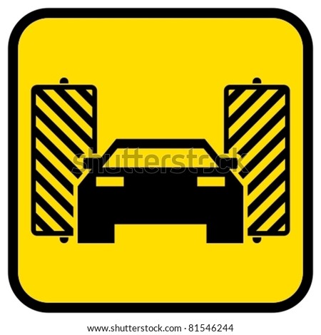 Vector automatic car wash sign.