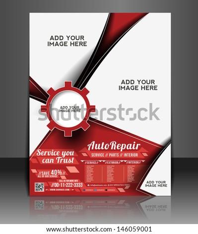 vector automobile center flyer