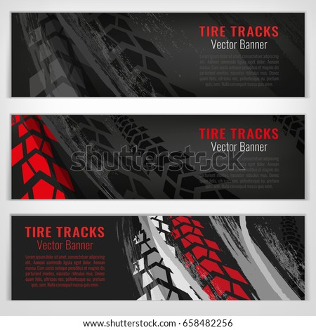 vector automotive banners