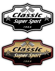 Vector automotive race emblem.