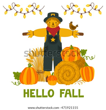 vector autumn background with
