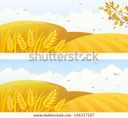 vector autumn backgrounds with