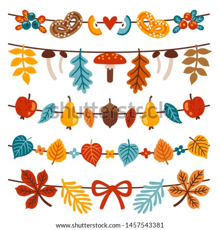vector autumn collection of 5