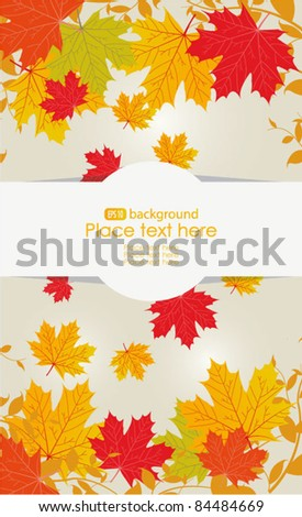 Vector autumn design. Colorful maple leaves fall