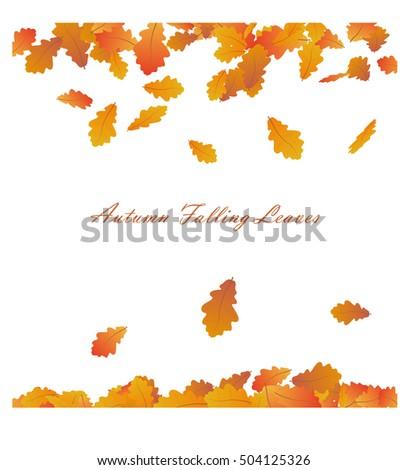 vector autumn frame with