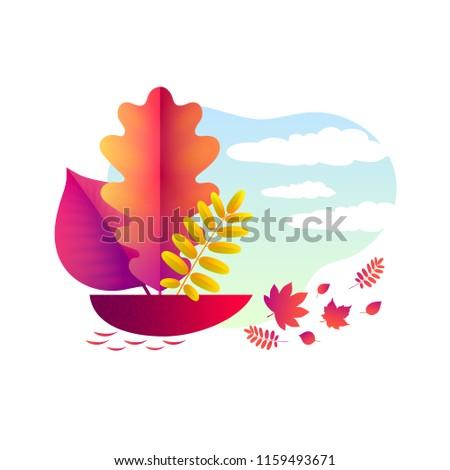 vector autumn illustration a