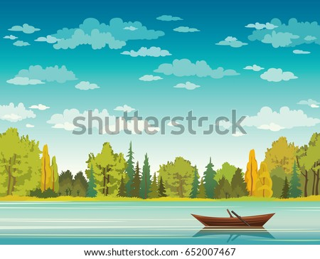 vector autumn landscape with