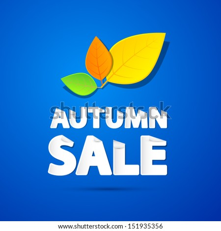 vector autumn sale theme with
