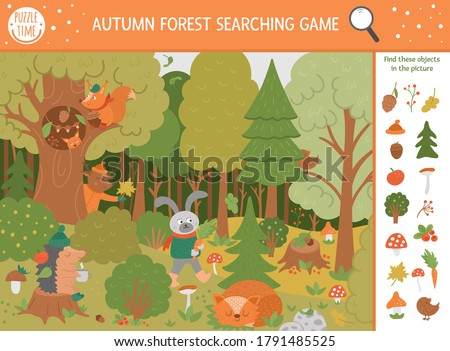 vector autumn searching game