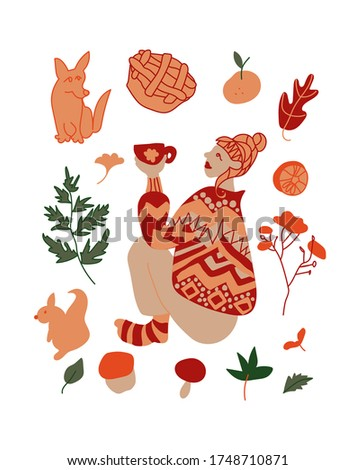 vector autumn setillustrations