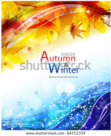 vector autumn   winter