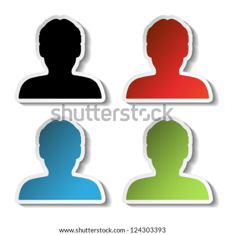 Vector avatar icons - human, user, member