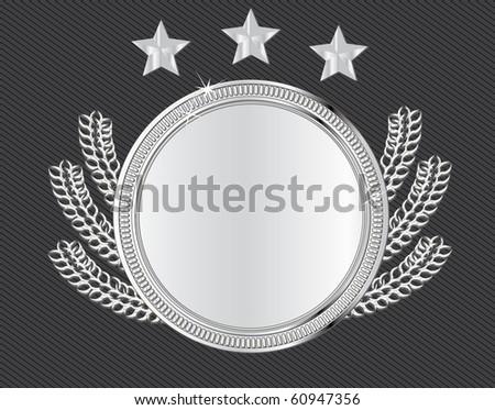 vector award medal - silver