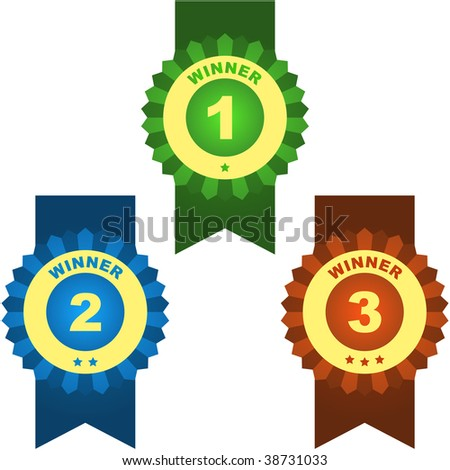 Vector award with place numbers
