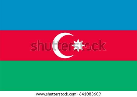 Vector Azerbaijan flag, Azerbaijan flag illustration, Azerbaijan flag picture, Azerbaijan flag image