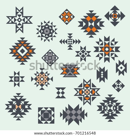 vector aztec style design