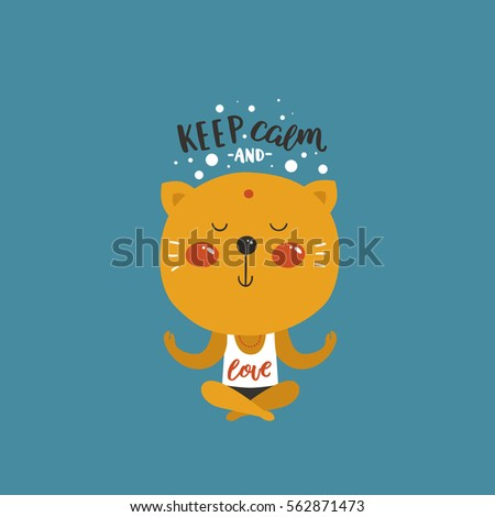 vector baby animal and text