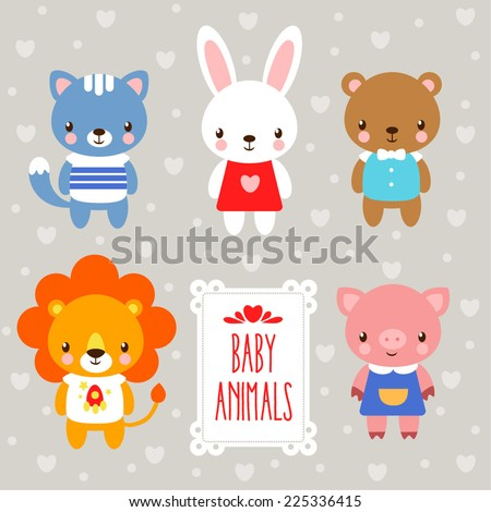 vector baby animals