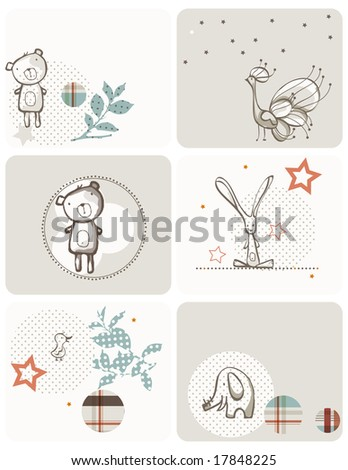 Vector Baby Graphic Set