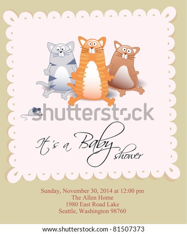 vector baby shower card with