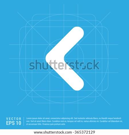 Vector Back arrow icon. Vector arrow icon