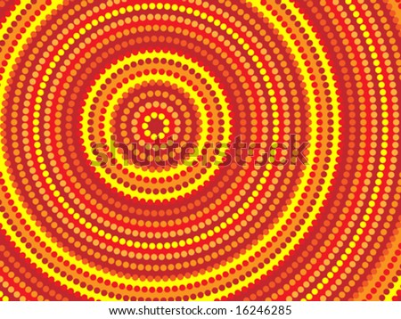 Vector background aboriginal style symbolic design.