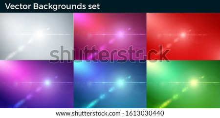 Vector Background abstract light lens flair effect.