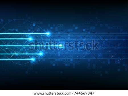 vector background abstract technology communication data Science