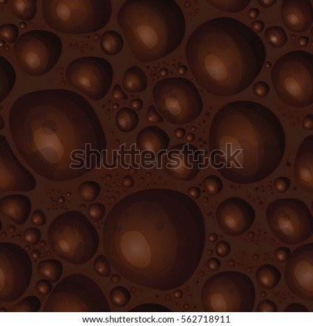 vector background aerated chocolate in a cut. Seamless pattern of milk chocolate. porous texture brown bubbles