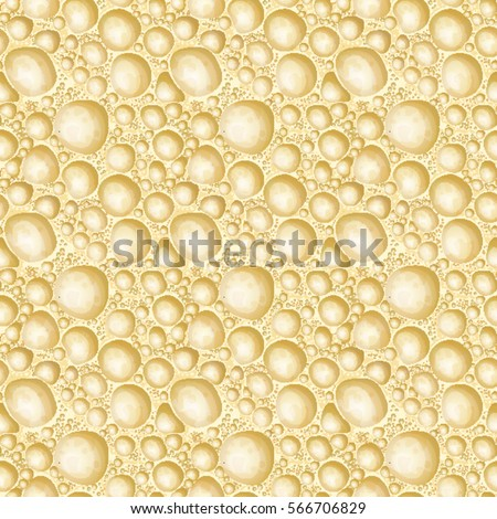 Vector background aerated white chocolate. Seamless pattern porous texture chocolates in a cut