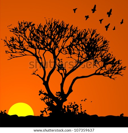 vector background  african