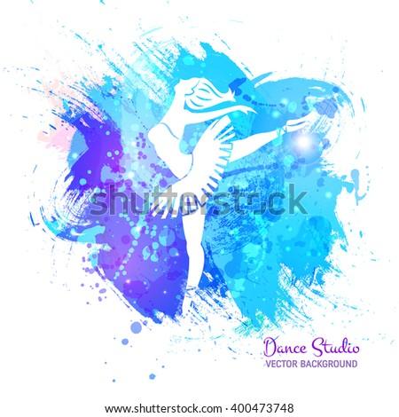 vector background ballerina in