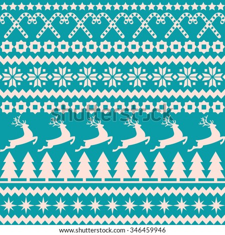 Vector background Christmas seamless pattern in the nordic style/Christmas seamless pattern in the nordic style/Christmas seamless background